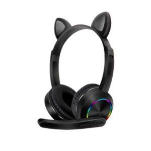 Ασύρματα ακουστικά - Cat Headphones - K23 - Black