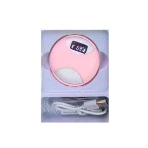 Ακουστικά bluetooth με βάση φόρτισης - KW12 - 665289 - Pink
