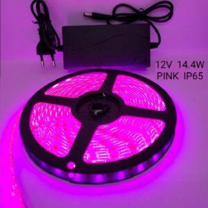 Ταινία LED – LED Strip - IP65 - 5m - Pink - 891203