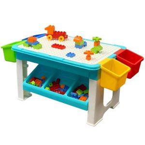 Παιδικό τραπέζι κατασκευών με τουβλάκια - 8405 - 884056