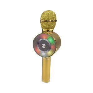 Ασύρματο μικρόφωνο Karaoke με ηχείο - WS-669 - Gold - 883594